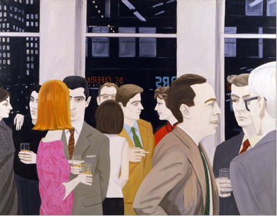 Cocktail Party illustrated by Alex Katz