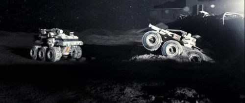 The 2 crashed moon rovers