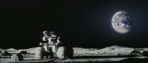 The rover with Earth in view