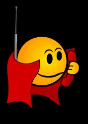 Spy smiley - clipart