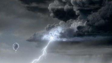 Scene from Disney movie Up:  cumulonimbus cloud