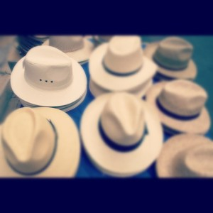 Instagrammed photo of lots of hat (for sale)