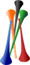 vuvuzelas - clipart