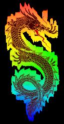 Rainbow_Dragon, clipart