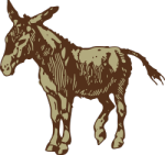 clipart donkey drawing