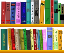 clipart library shelves