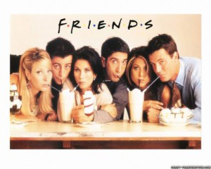 "poster for the TV series ""Friends"""