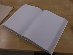 A clean slate = an opened book with blank pages
