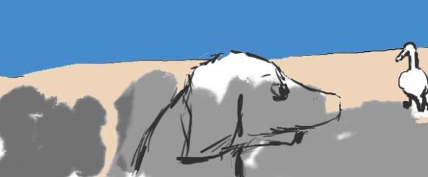 frida6FINAL cartoon art dogs